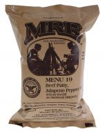 Beef Patty Jalapeno Pepper Jack - Meals Ready To Eat US Military MREs - Menu 19