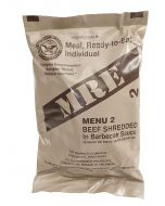 Beef Shredded in Barbecue Sauce - Meals Ready To Eat US Military MREs - Menu 2