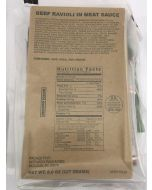 2019 Beef Ravioli In Meat MRE Ready To Eat Meal Reduced Sodium by Sopakco