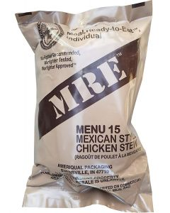 Mexican Style Chicken Stew - Meals Ready To Eat US Military MREs - Menu 15