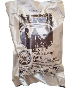 Pork Sausage Patty Maple Flavored 2020 Meals Ready To Eat US Military MREs Meal 17