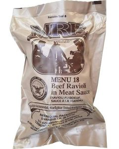Beef Ravioli in Meat Sauce 2020 Meals Ready To Eat US Military MREs Meal 18