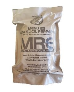 Pizza Slice Pepperoni - Meals Ready To Eat US Military MREs - Menu 23