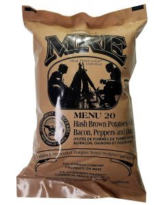 Hash Brown Potatoes with Bacon, Pepper and Onions - Meals Ready To Eat US Military MREs - Menu 20