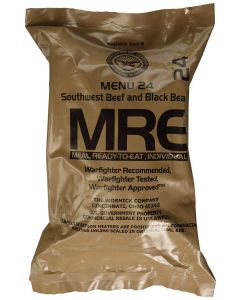 Southwest Beef and Black Beans 2020 Meals Ready To Eat US Military MREs Meal 24