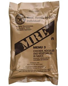 Chicken And Noodles - Meals Ready To Eat US Military MREs - Menu 3