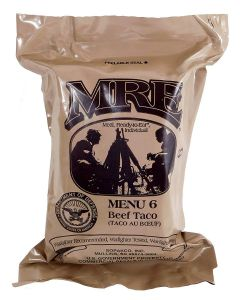 Beef Taco 2020 Meals Ready To Eat US Military MREs Meal 6