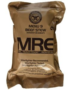 Beef Stew 2020 Meals Ready To Eat US Military MREs Meal 9