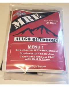 AllGo Outdoors Freeze Dried MCW - Survival Food Military 24hr Field Ration Menu 1
