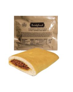 Honey Barbecued Beef 3 Pack - Bridgford MRE Ready To Eat Meal