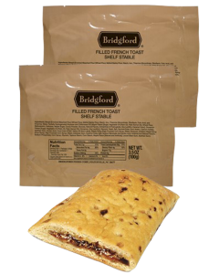 French Toast 3 Pack - Bridgford MRE Ready To Eat Meal