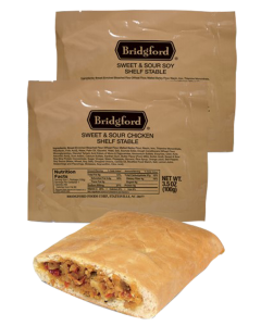 Sweet And Sour Chicken 3 Pack - Bridgford MRE Ready To Eat Meal