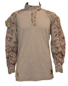 Genuine Military Shirt Issue USMC Desert Marpat Frog Combat Tactical Shirt (Medium Regular) Brown